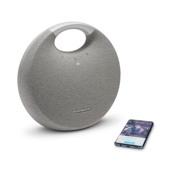 Onyx Studio 5 - Grey - Portable Bluetooth Speaker - Detailshot 1