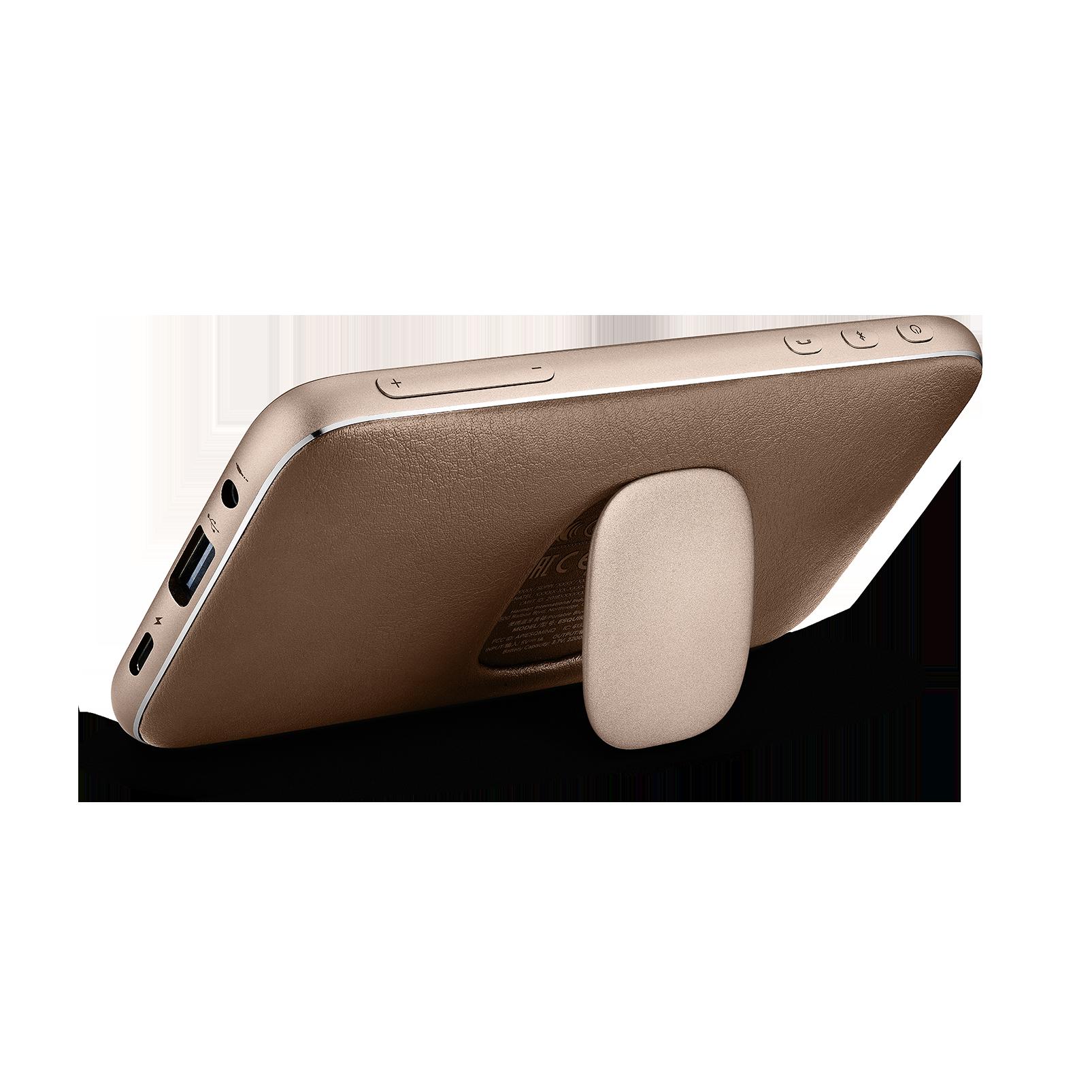 Harman Kardon Esquire Mini 2 - Brown - Ultra-slim and portable premium Bluetooth Speaker - Back