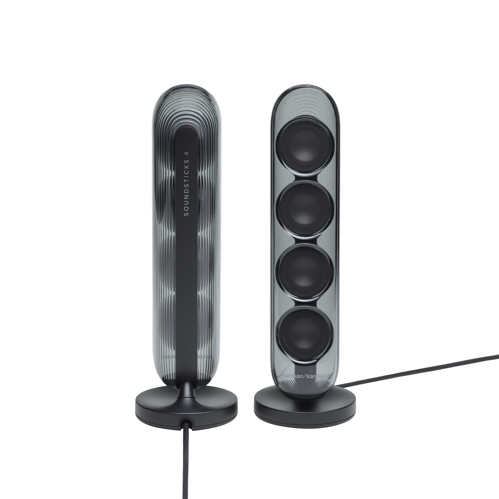 Harman Kardon SoundSticks 4 - Black - Bluetooth Speaker System - Detailshot 1