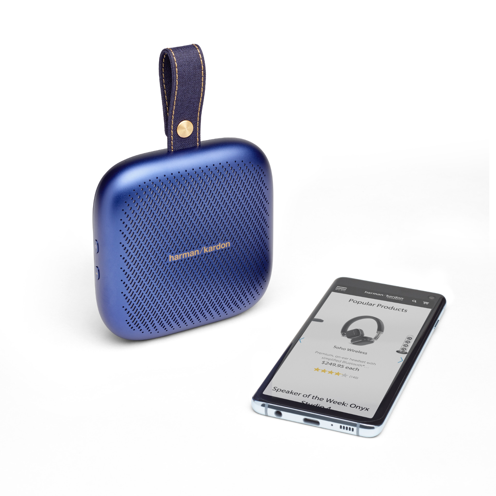 Harman Kardon Neo - Midnight Blue - Portable Bluetooth speaker - Detailshot 1